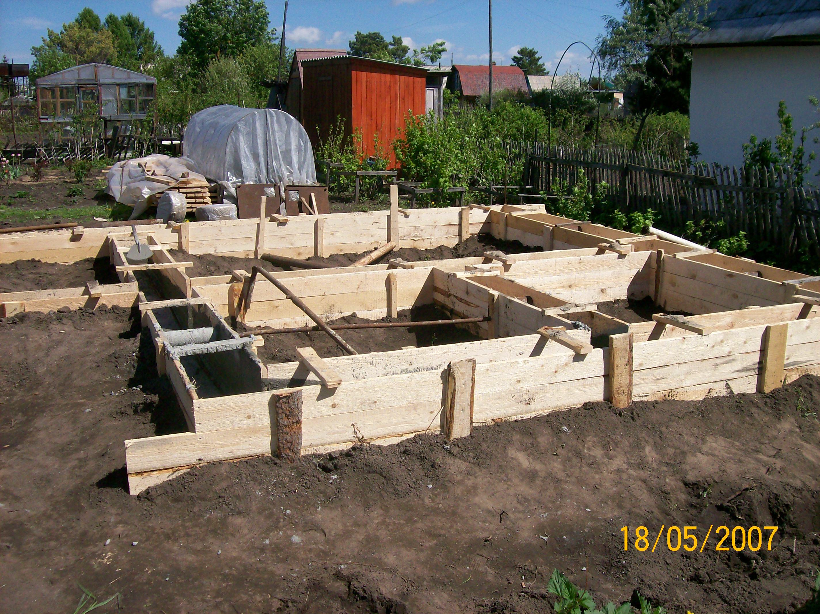 Фундамент для дачного дома: технология строительства 2