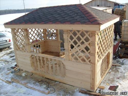 2 скатная крыша для беседки