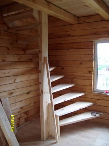 Лестница на второй этаж дача своими руками