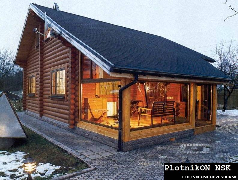 Деревянные дома на даче фото